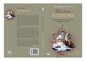 Cover Antologi Satu Kata Istimewa Yogyakarta
