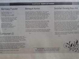 Cover Padang ekspres puisi buset 22 juni