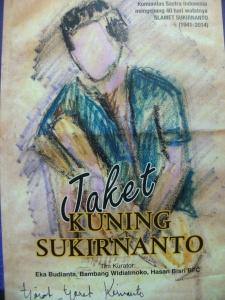 Cover Antologi Puisi Jaket Kuning Sukirnanto