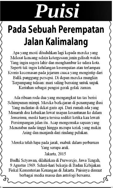 Puisi di Metro Riau 29 Agustus 2015