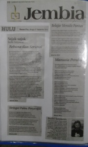 Cover Jembia Batam Pos